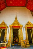 Wat Pho or Wat Phra Chetuphon,the Temple of the Reclining Buddha in Bangkok of Thailand.A fragment of decoration Royalty Free Stock Photo