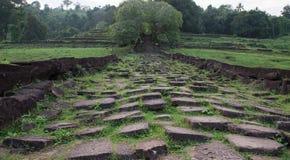 Wat Phou高棉寺庙老挝人 库存图片