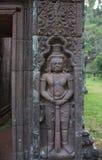 Wat Phou高棉寺庙老挝人 免版税库存照片