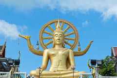Wat Phra亚伊寺庙的,酸值苏梅岛海岛大菩萨 库存照片