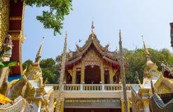 Wat Phra土井素贴寺庙,清迈,泰国 免版税库存照片