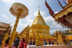 Wat Phra土井素贴寺庙,清迈,泰国 免版税库存图片
