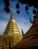 Wat Phra土井素贴是上座部佛教佛教寺庙在美丽在清迈,泰国附近 库存照片