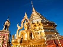 Wat Phra土井素贴是清迈的旅游胜地 库存图片