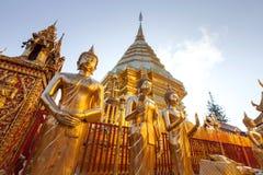 Wat Phra土井素贴,历史寺庙在泰国 库存图片