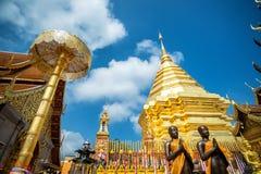 Wat Phra土井素贴,普遍的寺庙在清迈,泰国 免版税库存照片