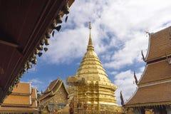 Wat Phra土井素贴,普遍的寺庙在清迈,泰国 库存照片