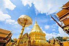 Wat Phra土井素贴,清迈,泰国,亚洲 免版税库存照片