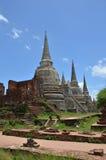 Wat Phra在阿尤特拉利夫雷斯历史公园泰国的Sri Sanphet 库存照片