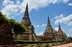 Wat Phra在阿尤特拉利夫雷斯历史公园泰国的Sri Sanphet 免版税库存照片
