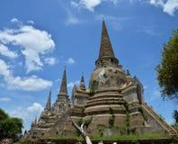 Wat Phra在阿尤特拉利夫雷斯历史公园泰国的Sri Sanphet 免版税库存图片