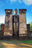 Wat Phra在Satchanalai历史公园, Sukhothai,泰国的Si拉塔纳Mahathat - Chaliang 免版税库存照片