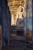 Wat Phra在Si Satchanalai历史公园的Si拉塔纳Mahathat - Chaliang在Sukhothai,泰国 库存照片