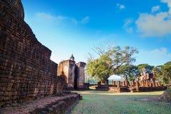 Wat Phra在Si Satchanalai历史公园的Si拉塔纳Mahathat - Chaliang在Sukhothai,泰国 免版税库存照片