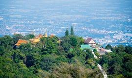 Wat Phra清迈府的,泰国土井素贴 免版税库存照片