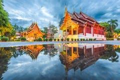 Wat Phra辛哈在清迈,泰国 免版税库存图片