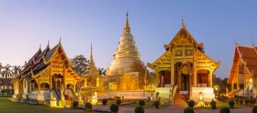 Wat phra辛哈在清迈 免版税库存照片