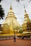 Wat Phra辛哈寺庙在清迈 库存照片