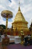 Wat Phra那个土井素贴寺庙泰国清迈菩萨 免版税图库摄影