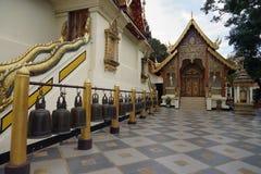 Wat Phra那个土井素贴寺庙泰国清迈菩萨 库存照片