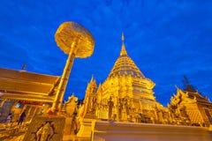 Wat Phra那个土井素贴寺庙 免版税库存图片