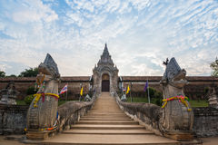 Wat Phra那个Lampang Luang寺庙 库存照片