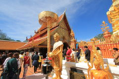 Wat Phra那土井素贴在清迈 库存图片