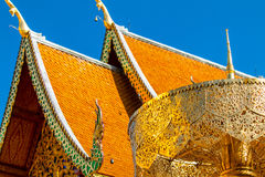 Wat phra那doi suthep泰国 免版税库存图片