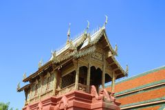 Wat Phra那Haripunchai在南奔泰国 库存照片
