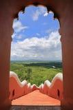 从Wat Phra门的森林风景土井Phra陈, lampa 免版税库存照片