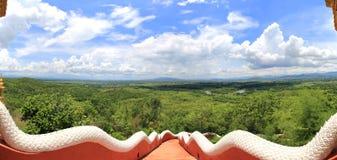 从Wat Phra门的森林风景土井Phra陈, lampa 免版税库存图片