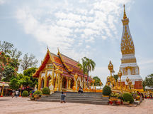 Wat Phra που βουδιστικός ναός Phanom σε Nakon Pranom Ταϊλάνδη Στοκ Εικόνα