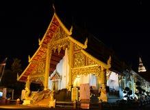 Wat Phra Σινγκ τη νύχτα στοκ φωτογραφία