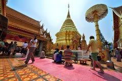 Wat Phra которое Doi Suthep, Чиангмай стоковая фотография rf