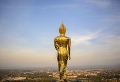 Wat Phra которое Khao Noi, точка зрения, золотое положение статуи Будды Стоковые Фото
