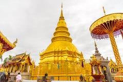 Wat Phra тот висок Hariphunchai Стоковая Фотография