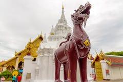 Wat Phra тот висок Hariphunchai Стоковое Изображение RF