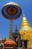 Wat Phra то Hariphunchai (буддийский висок) Стоковые Фото