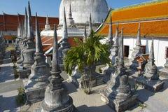 Wat Phra Baromathat i Nakhon Sri Thammarat, Thailand royaltyfri fotografi