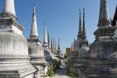 Wat Phra Baromathat i Nakhon Sri Thammarat, Thailand arkivbilder