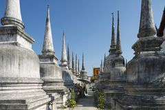 Wat Phra Baromathat in Nakhon Sri Thammarat, Thailand stockbilder