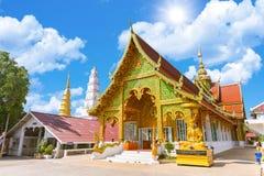 Wat Phra Bat Huai Tom Beautiful Thai Northern style temple stock photo