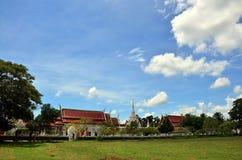 Wat Phra Borommathat Chaiya Temple in Chaiya Surat Thani Royalty Free Stock Images