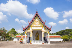 Wat Phra Borommathat Chaiya Worawihan, an ancient temple at Chaiya district,Surat Thani province, South of Thailand. Royalty Free Stock Images