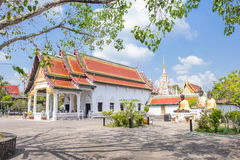 Wat Phra Borommathat Chaiya Worawihan, an ancient temple at Chaiya district,Surat Thani province, South of Thailand. Stock Image