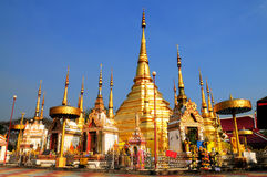 Wat Phra Boromthat (Buddhist Temple). The inside view of Wat Phra Boromthat, one of the most famous temple in Tak city, Thailand. The pagoda shares Myanmar's stock images