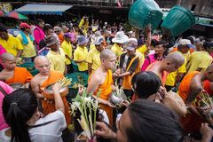 Wat Phra Buddhabat at saraburi, thailand. Royalty Free Stock Images
