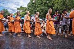 Wat Phra Buddhabat at saraburi, thailand. Stock Image