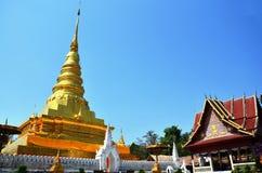 Wat Phra That Chae Haeng em Nan Thailand Foto de Stock