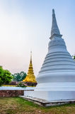 Wat Phra That Chae Haeng morning. Wat Phra Chae Haeng ,Nan Thailand Royalty Free Stock Photos
